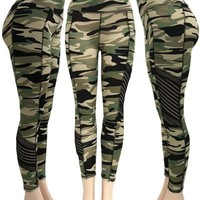 Camo Color Yoga Leggings