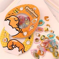 60 Pcs/pack Sanrio Gudetama Lazy Egg Sealing Stickers Diary Label Stickers Pack Decorative Scrapbooking Diy Toy Stickers