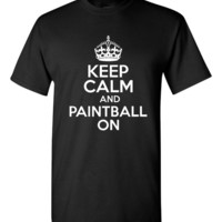 Keep Calm And Paintball On Great Paintball Printed Graphic T Shirt Makes Great Gift Paintball T Shirt Mens Womans