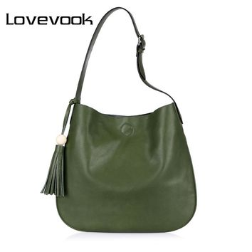 LOVEVOOK handbags women bucket bag female artificial leather casual messenger bags ladies shoulder crossbody bag high quality