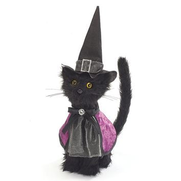 Orenco Originals 2 Black Cats Witch Hats Halloween Counted Cross Stitch Pattern