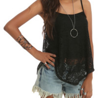 Teenage Runaway Black Skull Tank Top