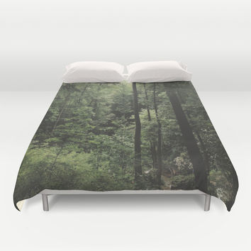 Through the Trees Duvet Cover by Sarah Que