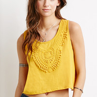 Crochet-Trimmed Top