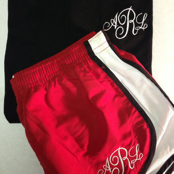 Cute Monogrammed tshirt and short set by CheeksLittleBoutique