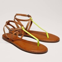 AEO Shine T-Strap Sandal | American Eagle Outfitters