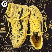 Beauty Ticks Vans X Peanuts Snoopy Graffiti Sk-hi Shoes 35-44