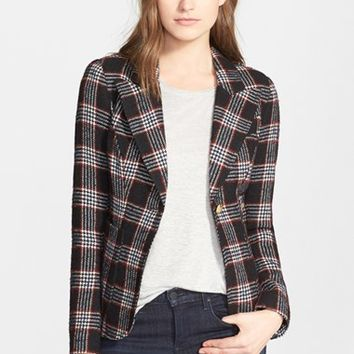 Women's Smythe Plaid Wool Blend Blazer,