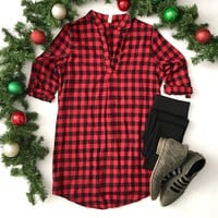 Red Buffalo Plaid Tunic-Last One!  Size Small