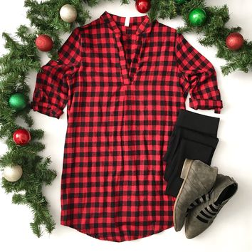 Red Buffalo Plaid Tunic