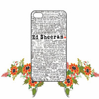Ed Sheeran iPhone 4/4S / 5/ 5s/ 5c case, Samsung Galaxy S3/ S4 / S5 case, iPod Touch 4 / 5 case