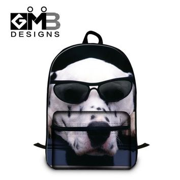Boys bookbag trendy Cute Laptop backpacks for High Class Students,Fashion Dog Pattern School s for girls,boys cotton back pack lightweight AT_51_3