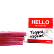 Tagged Napkins | Hello My Name Is