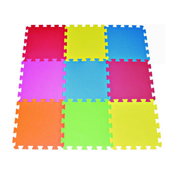 Clevr 36pcs Kids Interlocking EVA Foam Mats 6 Multi Color