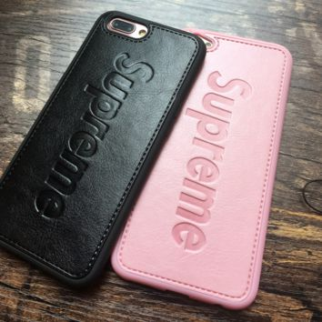 Chic Supreme Leather Iphone X 8 8 Plus/7 7 Plus/ 6 6s Plus Cover Case