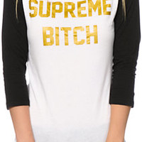 Married To The Mob Supreme Bitch Baseball Tee