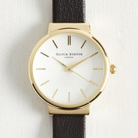 This Moment in Timeless Watch in Black & Gold - Midi | Mod Retro Vintage Watches | ModCloth.com