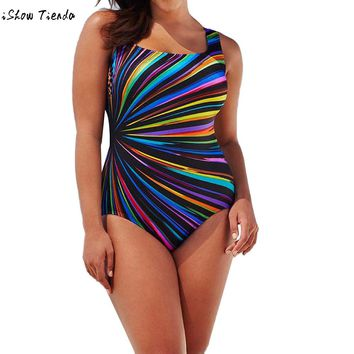 3 Color tankini mujer Camouflage Swimsuit Fused Womens Swimming Push Up Padded Swimsuit Monokini Swimwear Women Plus Size XL-3XL