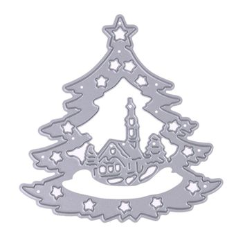 Christmas Tree Metal Cutting Dies Stencils for DIY Scrapbooking Album Decorative Embossing Folder Paper Cards Dies Craft