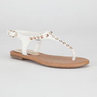 Soda Diary Girls Sandals White  In Sizes