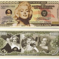Marilyn Monroe Million Dollar Novelty Bill Play Money