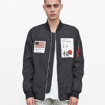 Aeronautics Nylon Flight Jacket in Black