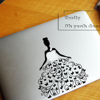 dancing girl- Decal laptop MacBook pro decal MacBook decal MacBook air sticker JQ-010