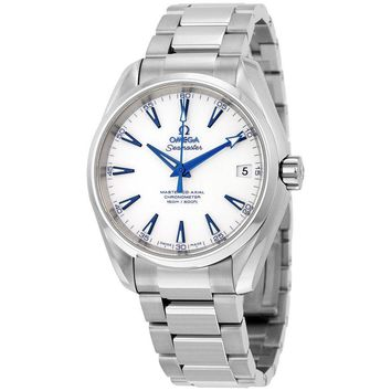 Omega Seamaster Aqua Terra  Automatic White Dial Stainless Steel Mens Watch
