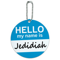 Jedidiah Hello My Name Is Round ID Card Luggage Tag