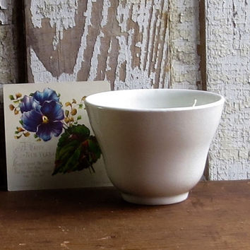 Antique Ironstone Cup, Handleless, Creamy White Iron Stone, Coffee or Tea, Dinnerware Tableware, Country Farmhouse Decor