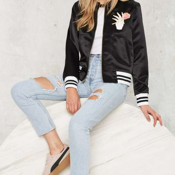 Big Bud Press Stem to Stem Satin Bomber Jacket