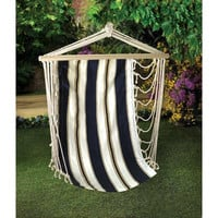 Navy Striped Hanging Hammock Chair