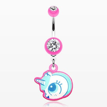 Adorable Unicorn Belly Button Ring