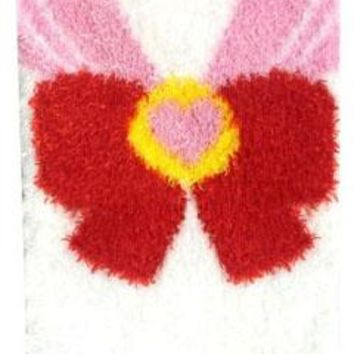 Sailor Chibi Moon Costume Fluffy Winter Socks -- White x Pink