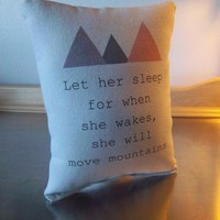 Newborn girl gift cushion pillows for the Nursery Baby Pillow