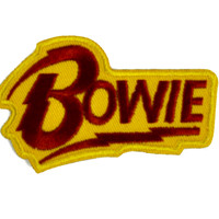 David Bowie Lighting Bolt Patch Iron on Applique Alternative Clothing Ziggy Stardust