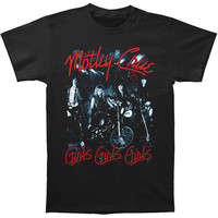 Motley Crue Men's  Girls Girls Girls T-shirt Black Rockabilia