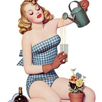 Pinup Poster Blonde Doing A Little Bit Of