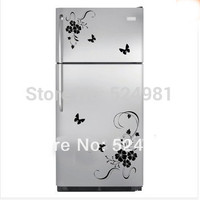 2014 New arrival! Freeshipping Flower Wall Art Stickers Wall Decal Kitchen Refrigerator Flower Home Decor Decoration hot sale