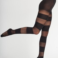 Sheer Luxe Solid Stripe Pantyhose | American Apparel