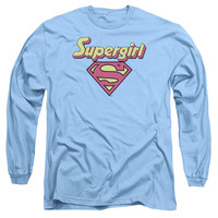 DC/I'M A SUPERGIRL - L/S ADULT 18/1 - CAROLINA BLUE -