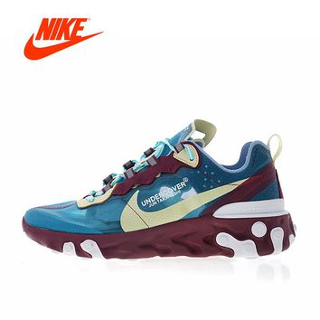 Original New Arrival Authentic UNDERCOVER x Nike Upcoming React Element 87 Men's Running Shoes Sport Outdoor Sneakers AQ1813-343