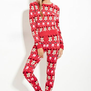 Reindeer-Patterned Leggings
