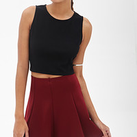 FOREVER 21 Zippered Crop Top
