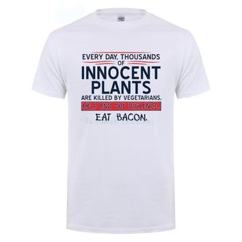 Everyday Thousands Innocents Plants Killed By Vegetarians T-Shirts - Men's Crew Neck Novelty Tee