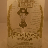 20 Ounce Pure Soy Candle in Reclaimed Hatter Royale Hopquila Liquor Bottle - Your Choice of Scent
