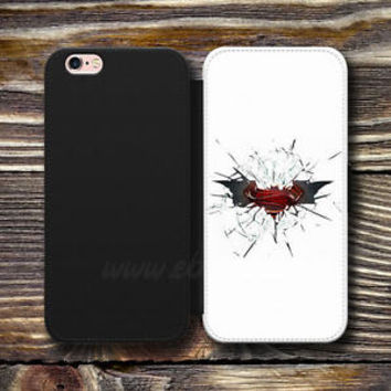 Cracked Glass Batman Wallet iPhone cases Superman Samsung Wallet Phone Logo Case
