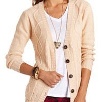 Button-Down Grandfather Cardigan: Charlotte Russe