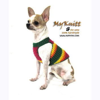 Red Green Yellow Summer Dog harnesses Puppy Sweater Ring D Harness Pet Vest Walk DH24