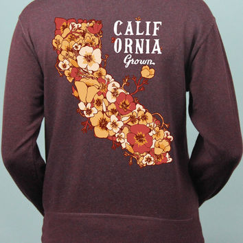 California Grown  Zip Up Sweatshirt (Runs Larger)